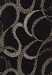 Brown Black Modern Design Upholstery Fabric