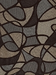 Overlap Mystic Blue Brown Beige Upholstery Fabric