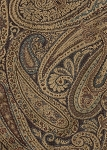 Intrigue Blue Brown Beige Paisley Upholstery Fabric