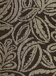 Baden Hill Brown Beige Leaf Pattern Upholstery Fabric
