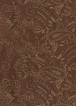 March Chestnut Brown Paisley Pattern Upholstery Fabric