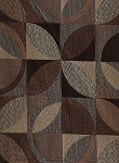 Gazo Sepia Leather Brown Beige Tone Upholstery Fabric