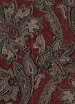 Red Gold Paisley Design Upholstery Fabric