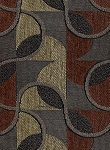 Twist and Shout Sable Red Beige Black Upholstery fabric