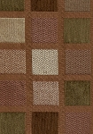Brown Gold Square Pattern Upholstery Fabric