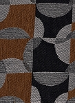 Acoustics Coral Black Silver Geometric Design upholstery Fabric