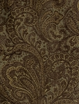 Waller Aegean Brown Blue Paisley Design Upholstery Fabric
