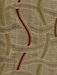 Maui Fiesta Gold Maroon Upholstery Fabric