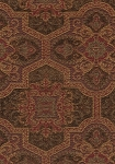 Davenport Tabacco Maroon Gold Brown Upholstery Fabric