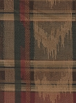 Red Gold Green Plaid Pattern Upholstery Fabric