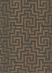 Interlock Bayside Blue Brown Geometric Pattern Upholstery Fabric