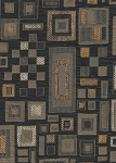 Marble Effect Black Olive Geometric Design Upholstery Fabric
