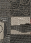 Red Black Gray Modern Pattern Upholstery Fabric