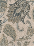 Belmopan Chambray Blue White Floral Upholstery Fabric