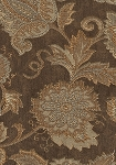 Kiev Mocha Brown Gold Upholstery Fabric