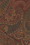 Prima Cocoa Maroon Brown Paisley Upholstery Fabric