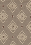 Tan Ivory Diamond Pattern Upholstery Fabric