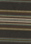 Albuqerque Turquoise Brown Ivory Stripe Upholstery Fabric