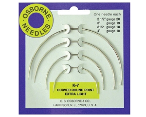 No. K-7 - Curved Rd. Point X-Light Needle Card