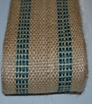 3.5 Inch Green Stripe Jute Webbing   by the yard