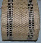 3.5 Inch Black Stripe Jute Webbing  by the yard
