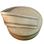 72 yard Roll 3.5 Inch Black Stripe Jute Webbing
