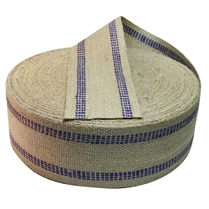 72 Yard Roll  3.5 Inch Purple Stripe Jute Webbing