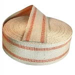 72 yard roll 3.5 Inch Red Stripe Jute Webbing
