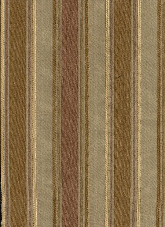 Tan Gold Brown Stripe Upholstery Fabric