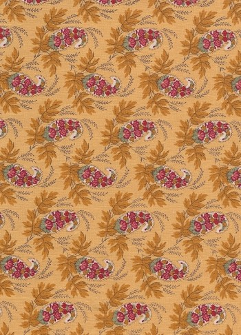 Waverly Yellow Red Paisley Floral Cotton Print