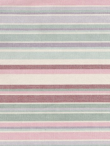 Faded Purple White Blue Red Stripe Cotton Print