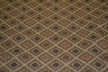 6.3 yds Brown Beige Diamond Upholstery Fabric