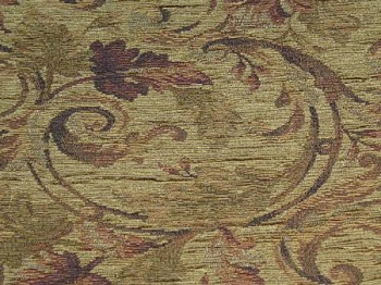 4.6 yds Drescher Bark Gold Green Upholstery Fabric