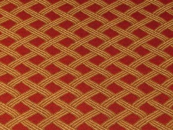 1.6 yds Maroon Gold Rope Diamond Upholstery Fabric