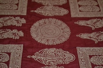 5.1 yds Indian Summer Crimson Washed Upholstery Fabric