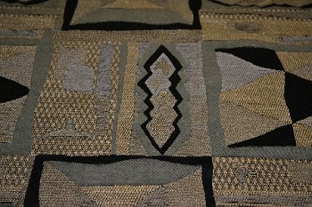 1.3 yds Pyramid Night Black Gold Upholstery Fabric