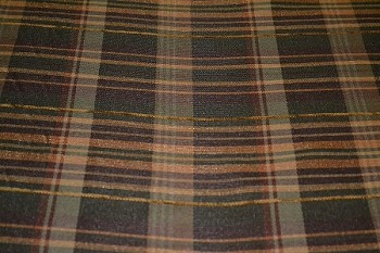 6.6 yds Mac Dowell Thyme Brown Maroon Plaid Upholstery Fabric
