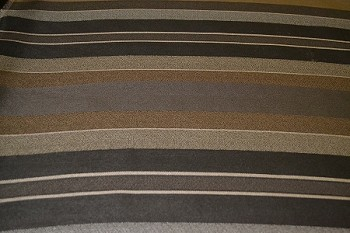 2.7 yds Aquila Graphite Brown Stripe Upholstery Fabric