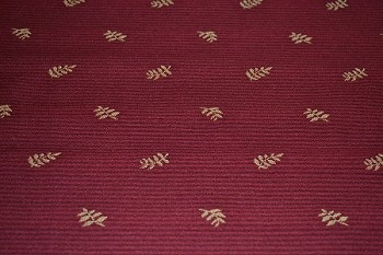 1.8 yd Yasmine Garnet Red Gold Upholstery Fabric