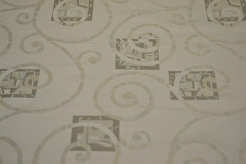 11.6 yards Floral White Swirl Pattern Upholstery Fabric