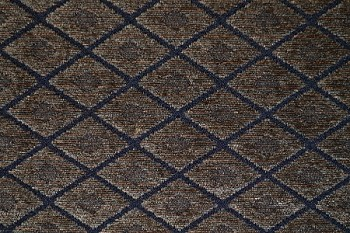 9.75 yards Fancy Diamonds Black Brown Upholstery Fabric