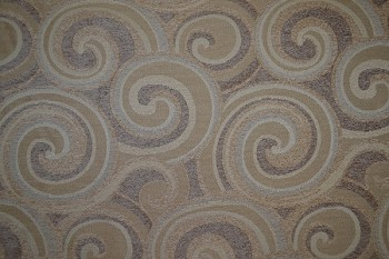 7.7 yards Retro Mod Swirl Brown White Upholstery Fabric