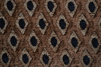 1.1 yards Faberge Coffee Upholstery Fabric