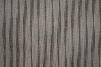 16.7 yards H.W. Ticking Taupe Upholstery Fabric