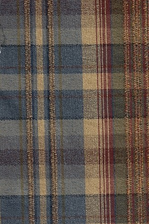 1 4 Yards Jerome Midnight Blue Tan Red Plaid Upholstery Fabric