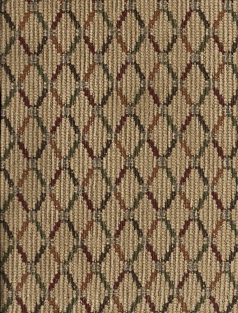 2 yards Red Brown Gold Diamond Upholstery Fabric