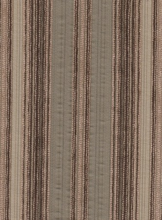 Monsieur Twig Brown Tan Stripe Upholstery Fabric