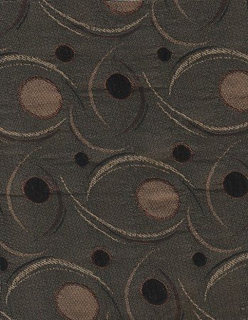 Black Tan Modern Pattern Upholstery Fabric