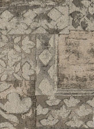 Flower Box Neutral Beige Tan Upholstery Fabric