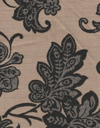 Heiress Carbon Black Beige Upholstery Fabric